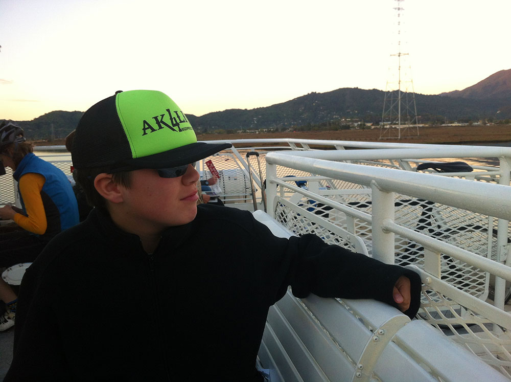 Alex on the Ferry