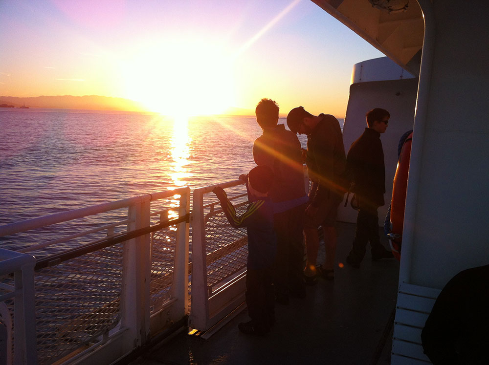 Sunset on the Ferry 2